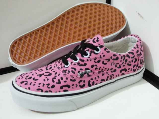 pink authentic vans size 5